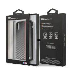 BMW Logos iPhone X/XS Karbon/Bőr Kombinációs Tok